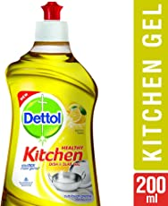 Dettol Healthy Kitchen Dish and Slab Gel, Lemon Fresh- 200 ml