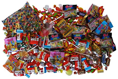 Süßigkeiten - Mix 210-teilig mit Konfetti, zur Füllung einer Pinata, 1er Pack (1 x 988g)