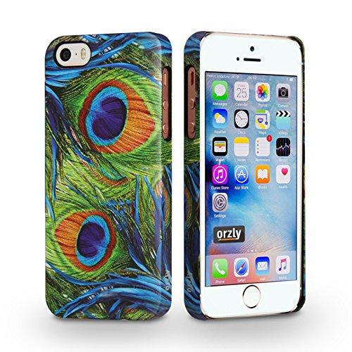 Orzly® - Orzly Art Case für das iPhone SE – Schmetterling Funkel-Glanz Hülle/ Schutzhülle / Tasche/ Case/ Cover –kompatibel mit iPhone 5/5S und dem neuen iPhone SE Royal Peacock for iPhone SE