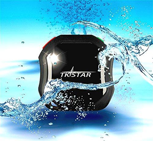 tkstar-waterproof GPS con tasto SOS, mini Tracker Localizzatore auto, per gli anziani/bambini/auto, batteria di lunga durata per car Finder, veicolo recorder-tk1000
