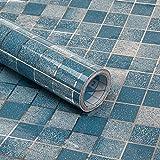 Glow4u Mosaik-Muster Kontakt Papier selbstklebend Vinyl Regal Küche Aufkleber Backsplash oil-proof (17,7bis 75cm)