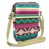 Mopaclle Mädchen klein Bezaubernd Umhängetasche Brieftasche Geldbeutel Handy Taschen für iphone 7 Plus,Samsung Galaxy S8 Plus (lila)
