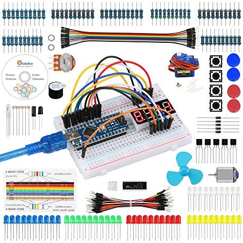 Emakefun-SetKit-fr-Arduino-Nano-Projekt-Das-Vollstndige-Starter-Kit-mit-Tutorial-Nano-Mikrocontroller-und-viel-Zubehr-fr-Arduino-Nano-Board-Kompatibel-UNO-R3