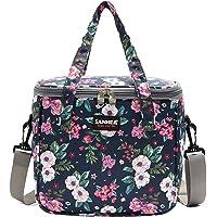IvyH Lunchpaket Isolierte Kühltaschen mit Schultergurt Auslaufsicherer 7L Mittagessen Tasche für die Arbeit/Reise im…