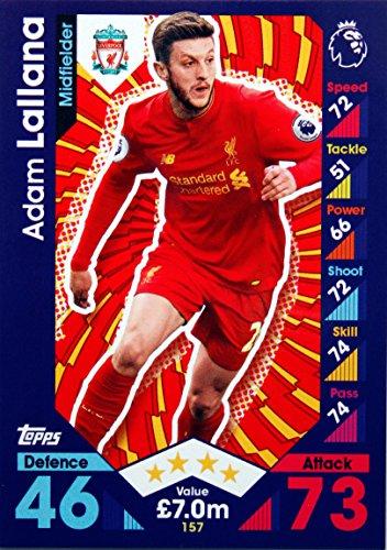 Match Attax 16/17 > Adam Lallana Liverpool > #157