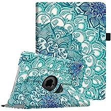 Fintie iPad Air 2 Funda - Giratoria 360 grados Smart Case Funda Carcasa con Función y Auto-Sueño / Estela para Apple iPad Air 2 (iPad 6th Generación 2014 Versión) 9.7 Inch iOS Tableta, Emerald Illusions