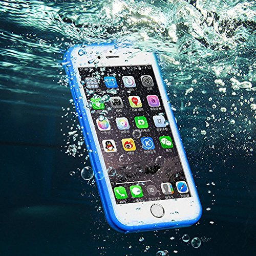 Wasserdicht iPhone 6S Hülle, iPhone 6 Waterproof Case, MOMDAD TPU Silikon Touchscreen Vollschutz Cover für iPhone 6S 6 Full Body Beidseitiger 360 Schutzhülle Ultra Dünn Kratzfeste Staubdicht Stoßdämpf Blau