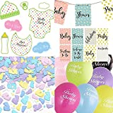 Baby Shower Decorations Party Pack Banner, Photo Props, Balloons confetti Unisex Boy Girl Free Delivery