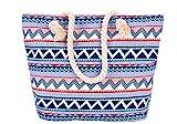 5 All Strandtasche Shopper Damen Aufdruck Muster Geometrie Groß XL