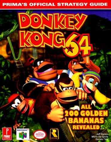 Donkey kong 64 brady games official strategy guide book $13. 99.