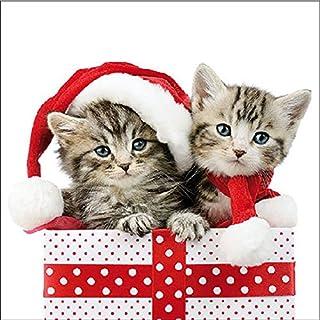 Ambiente Christmas Napkin 33cm Christmas Kitten