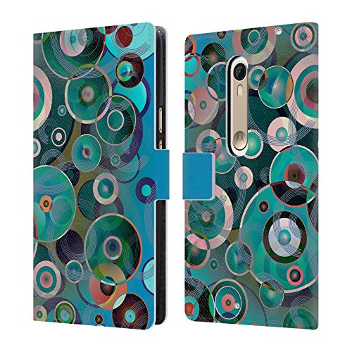 Offizielle Angelo Cerantola Pop Muzik Muster Brieftasche Handyhülle aus Leder für Motorola Moto X Style / Pure