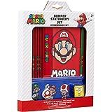 Super Mario Set Papeleria para Niños, Incluye Estuche Escolar de Mario Bros Cuaderno A6 y A5 Goma de Borrar Lapices de Colore