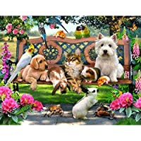 Wishwin 5D Diamante pittura animale Paradise Mosaico Croce strass Home Decor