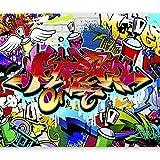 murando Papier peint intissé - 350x256 cm Décoration Murale XXL Poster Tableaux Muraux Tapisserie Photo Trompe l'oeilTableaux muraux déco XXL Graffiti f-A-0018-a-b