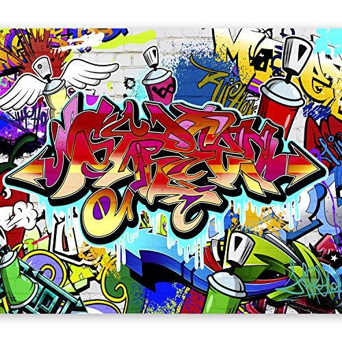 murando – Papier peint intissé - 400x280 cm - Papier peint - Tableaux muraux déco XXL Graffiti f-A-0018-a-b