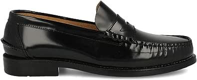 PAYMA - Mocassini Scarpe Loafer Castellano in Pelle da Uomo, Prodotto in Spagna. Scarpe Classiche Mascherina e Nappe per Cavaliere, Suola in Gomma Molto Flessibile, Pelle Antirughe, Antiscivolo.