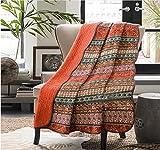 Alicemall Tagesdecke Quilt Baumwolle mit Blumenmuster und Wellensaum Bettwäsche Doppelbett
