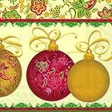 MAGNIFICO crema Navidad servilletas de papel - 33 cm cuadrado de 20 unidades