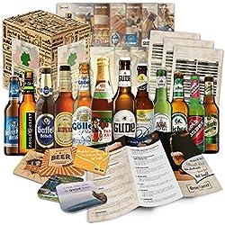 Paquete de 12 especialidades de cerveza de Alemania (las mejores cervezas alemanas)como un juicio a la caja de ingift regalo (selección de cerveza de alta calidad) 12 x 0,33 l