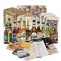 Cette boîte cadeau contient 12 bières d'Allemagne, en bouteilles de 33 Cl, ainsi que des informations sur ces bières et des instructions de dégustation. Spécialités de bières de toutes les régions de l'Allemagne. Livrées dans un carton spécial en tou...