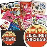 Lieblingsnachbar | Süssigkeiten Geschenk | Geschenkkorb | Lieblingsnachbar | Ossi Paket | Geschenkidee Nachbar | mit Puffreis Schokolade, Zetti und mehr