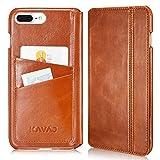 KAVAJ Coque Cuir Sacoche Dallas pour Apple iPhone 8 Plus iPhone 7 Plus Marron Cognac...