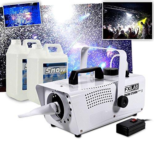 Máquina de nieve artificial efecto de tormenta de nieve + 10L de líquido Mega Soirees