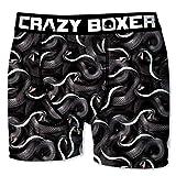 Crazy Boxer Herren Boxershort/Retroshort Fun-Edition, MEGA-Designs (M/5/48, Schlangen)