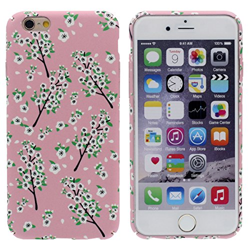 """Ultra Magro Leggera iPhone 6 6S Custodia Protettiva 4.7"""" Case Dura Rigida Gel Bella Pittura Stile - Fenicottero - (Liscia come Cobblestone) Rosa"""