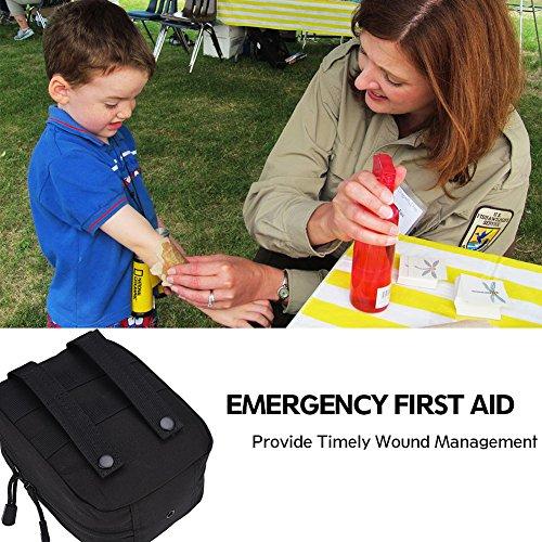 619BZEtN0HL - Bolsa de botiquín de Primeros Auxilios Bolsa de botiquín de Primeros Auxilios Bolsa de Utilidad médica para el Lugar de Trabajo en el hogar Camping Viajes(Black)