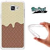 BeCool® Fun - Coque Etui Housse en GEL Flex Silicone TPU Samsung Galaxy A5 2016 , protège et s'adapte a la perfection a ton Smartphone et avec notre design exclusif.Chocolat Blanc