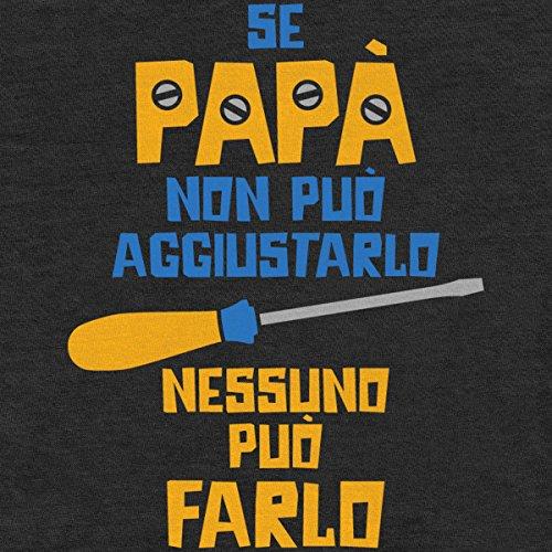 Regalo Festa del papà – Se papà Non può aggiustarlo T-Shirt Maglietta Uomo Large Blu - 2
