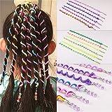 QWhing DIY Beaded Hair Sticks Bobina Wound alrededor del disco de color rizos pelo varillas