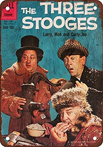 Three Stooges Vintage Look Reproduction Metal Tin Sign 8X12 Inches