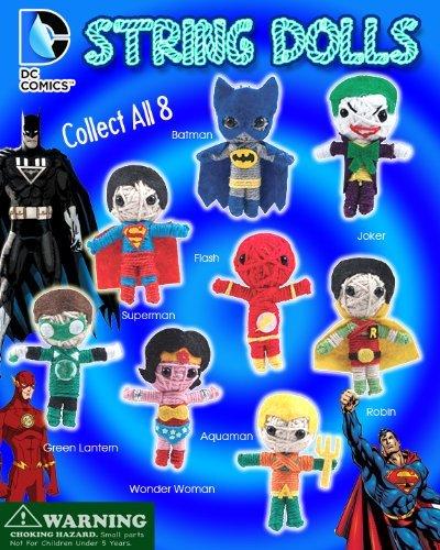 DC Comics Super Hero 2Saite Puppen Lot von 10~ mit Superman, Batman, Joker, Green Lantern, Flash, Robin, Wonder Woman und AQUAMAN und mehr... von DC Comics