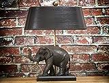 Elefantenlampe Figurenlechte mit Bronze Elefant Lampe Leuchte Elefantenleuchte