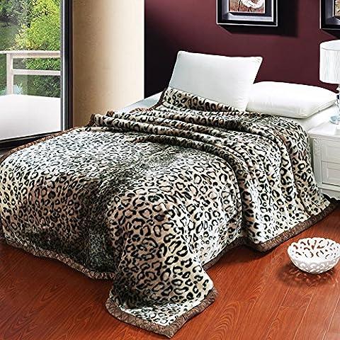 shinemoon–Extra Morbido E Caldo grado A Raschel Coperta letto Copriletto doppio ispessimento unisex coperta per neonati divano Slipcover 70da 86cm