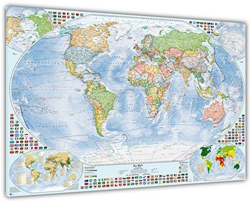 Weltkarte Relief II Poster oder Leinwand Bild auf Keilrahmen bilder deutsch