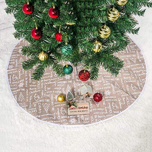 Chen0-super Christmas Tree Falda Delantal Accesorios Decoración ...