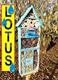 Nesting Box Pale Blue Insect Hotel with Trough...