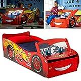 Disney Cars Luxus Kinderbett im Autodesign mit beleuchteter Windschutzscheibe - 140x70cm