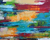 Bild abstrakt modern Malerei Kunst Original Acryl Gemälde 100x80 cm