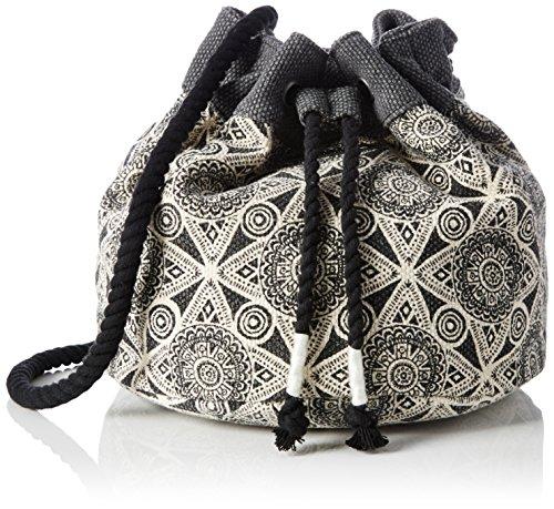 Volcom Volcom Cant Be Tamed Bucket Handtasche - cartella Donna, Schwarz (Black), 5x23x36 cm (B x H T) Nero (Black)