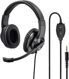 Hama Pc Headset 3 5 Mm Jack Corded Stereo On Ear Black Elektronik