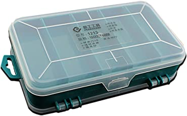 Segolike Compartments Plastic Screws Threads Bolts Nails Nuts Storage Case Box Tools