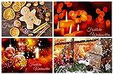 Weihnachtskarten-Set-1 (24 St.) nostalgisch - ein Nostalgie-Weihnachtspostkarten-Set im Retro / Vintage-Stil von EDITION COLIBRI © - umweltfreundlich, da klimaneutral gedruckt