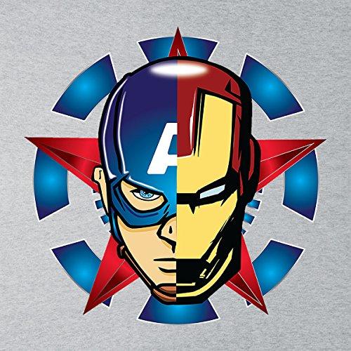 Civil War Iron Man Captain America Face Off Men's Vest Heather Grey