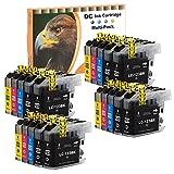 D&C 20er Set (B/C/M/Y) Druckerpatronen Tintenpatronen Ersetzt für Brother LC123 DCP-J132W,DCP-J152W,DCP-J172W,DCP-J4110DW,DCP-J552DW,DCP-J752DW, MFC-J10DW,MFC-J245,MFC-J4410DW,MFC-J4510DW,MFC-J4610DW,MFC-J470DW,MFC-J4710DW, MFC-J650DW,MFC-J6520DW,MFC-J6720DW,MFC-J6920DW,MFC-J752DW,MFC-J870DW