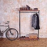 Industrie Stil Kleiderständer–Light Walnut